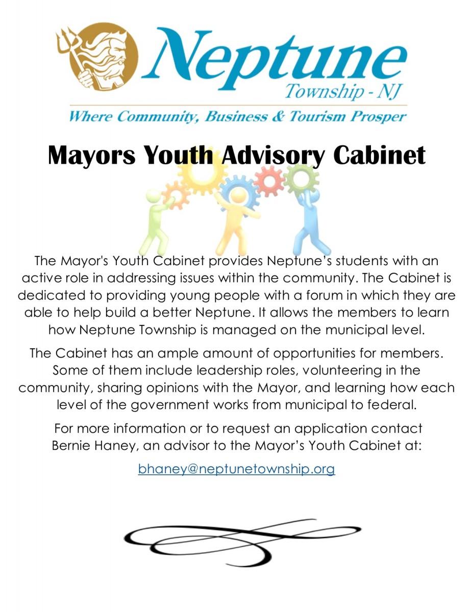 Mayors Youth Advisory Cabinet   Neptune Township