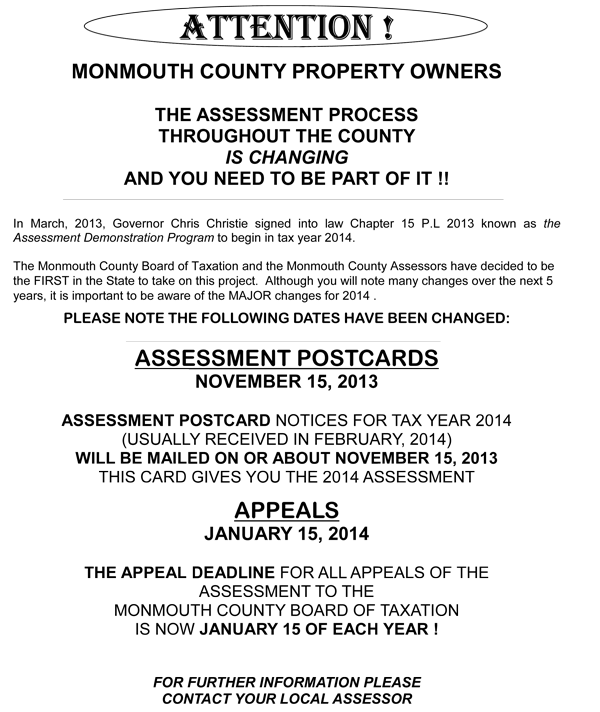 Neptune Township Property Tax Rate