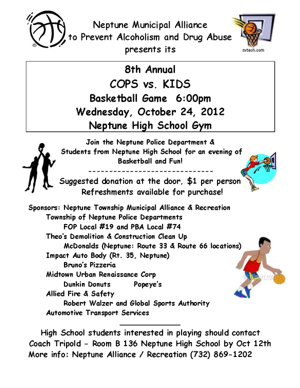 cops vs kids basketball game